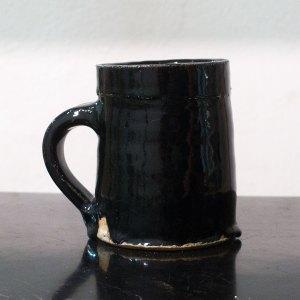 Erik Haugsby Pottery black coffee cup mug handmade ceramics