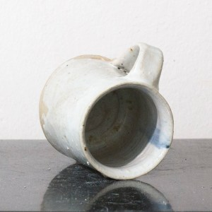 Erik Haugsby Pottery ceramic coffee mug with white nuka glaze