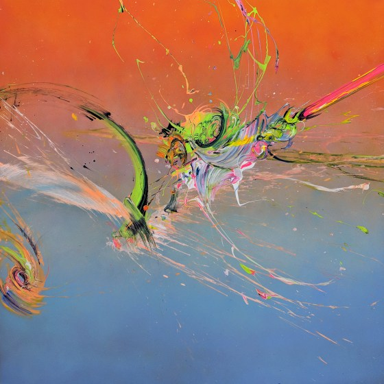 Untitled - Spinner 48x48 acrylic on aluminum 18