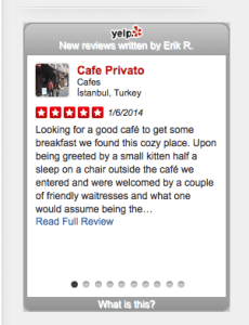 Yelp-Wordpress-Widget