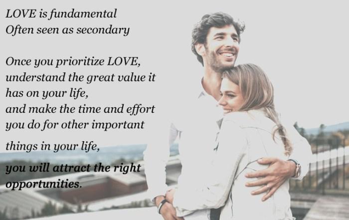 LOVE is fundamental