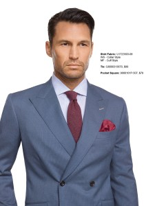 Charcoal Blue Double Breasted Suit