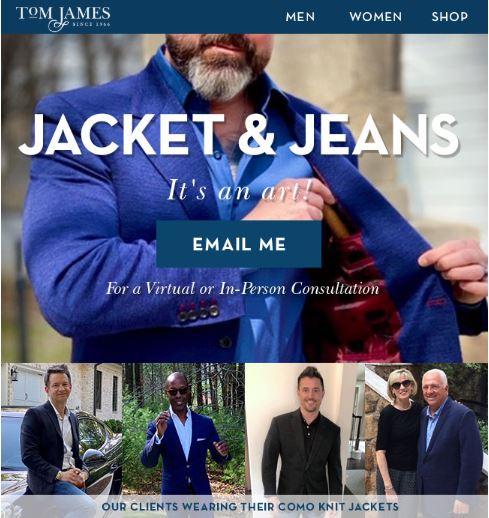 Tom James Jacket & Jeans Sport Coats Jeans 5 pocket tampa sarasota lakeland st petersburg florida mensfashion