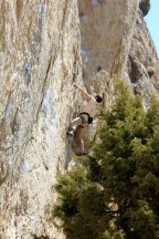 Lucas Barbula on Corner Drug in Sinks Canyon