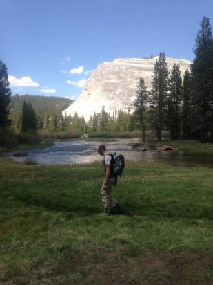 Approaching Lembert Dome from the Tuolumne Meadows campground
