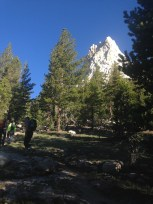 Approaching Cathedral Peak in Tuolumne Meadows