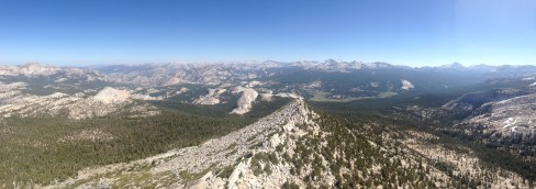 View of Tuolumne Meadows from Summit of Cathedral Peak
