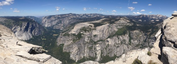 The view of the Valley from the top of Half Dome