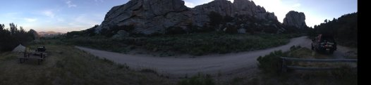 City of Rocks, first campsite