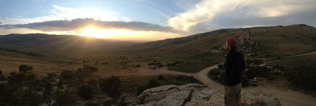 Sunset from City of Rocks