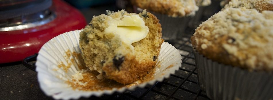 butter on muffin ss