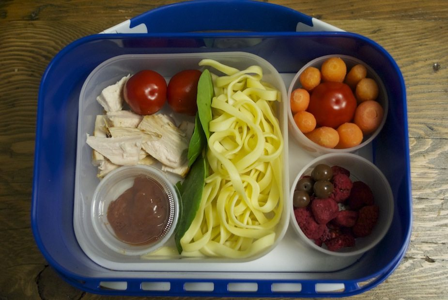 Chicken and pasta bento