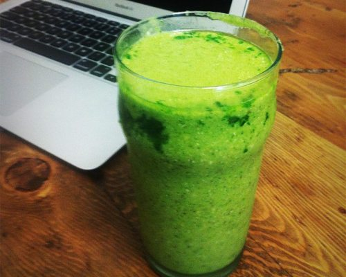 Ginger mint green smoothie | Erin at Large