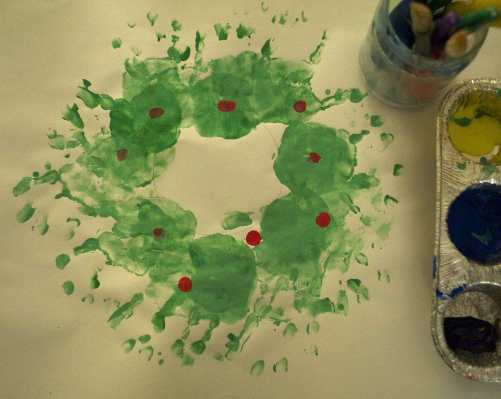 On Treehouse: Handprint holiday wreath