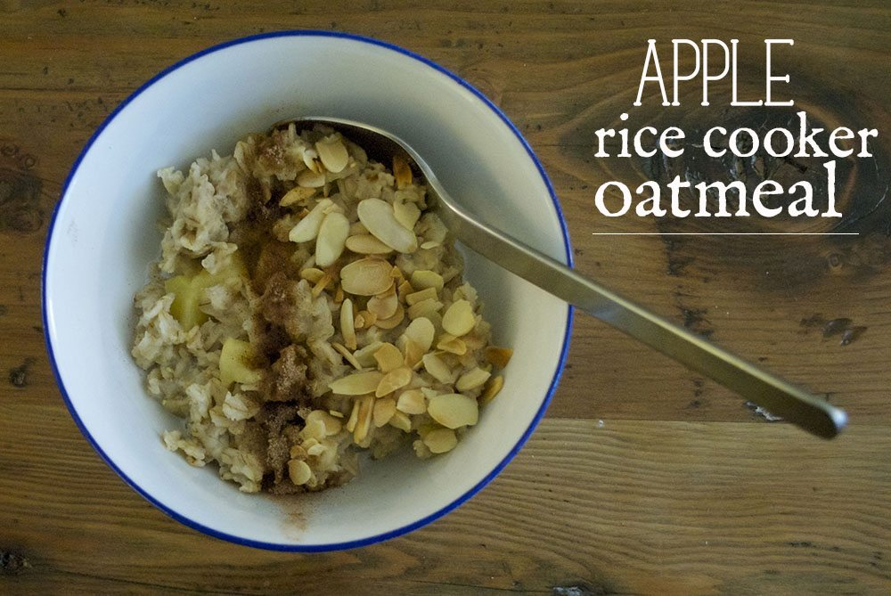 rice cooker apple oatmeal titled