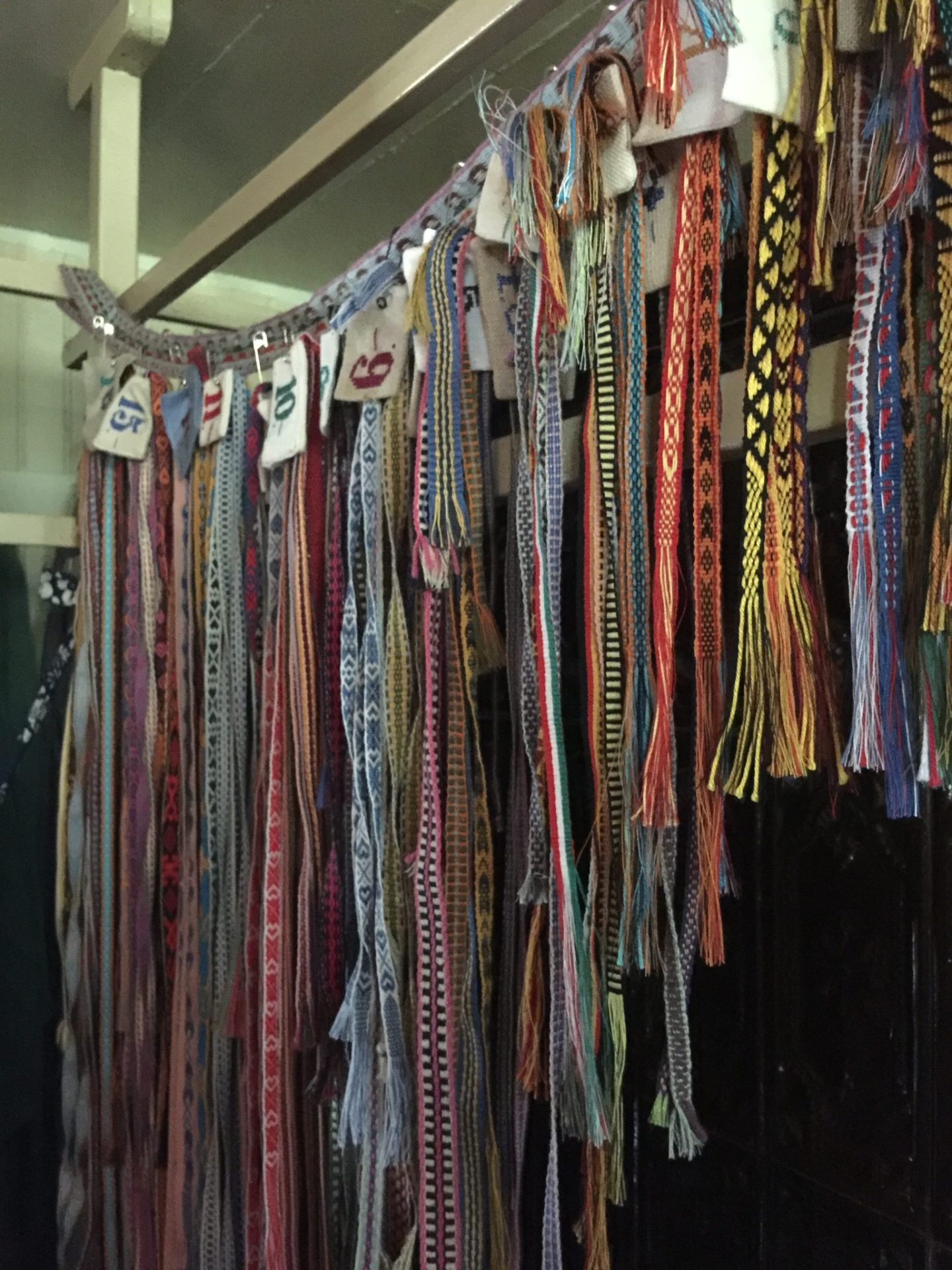 Incredibly detailed ribbons, woven by local craftspeople.