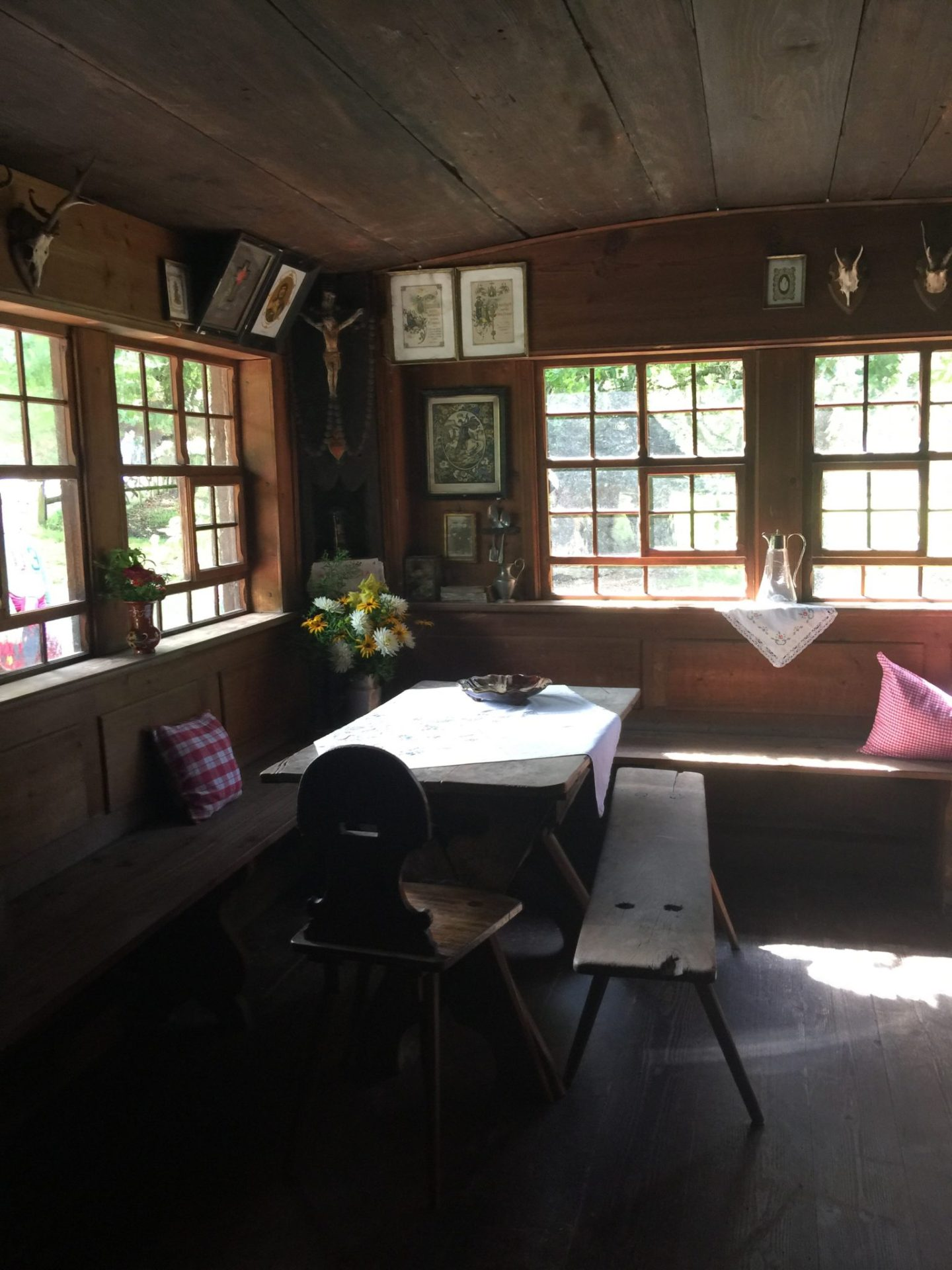 The dining room of the oldest farmhouse at the Black Forest Open-Air Museum