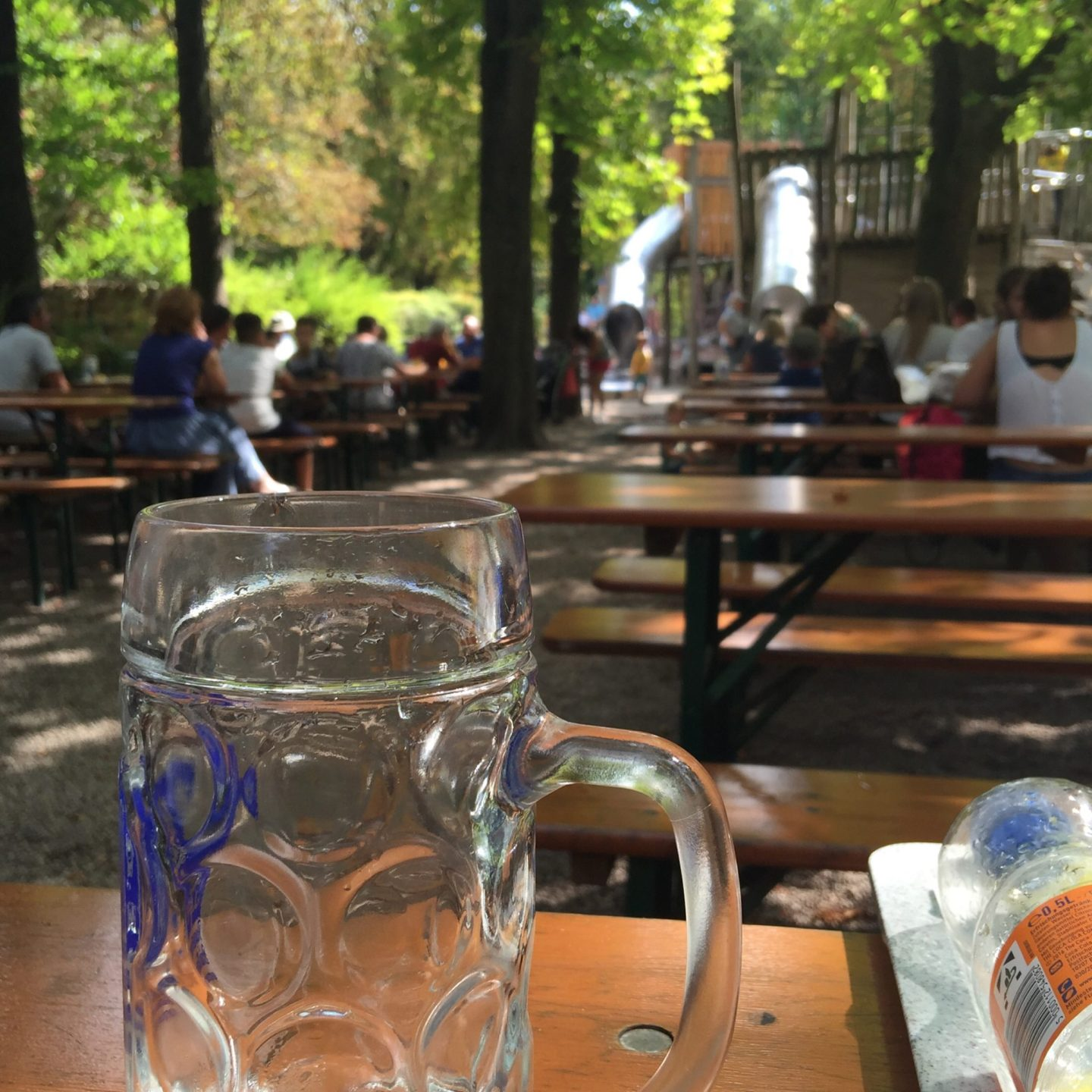 Biergarten in Hellabrunn Zoo