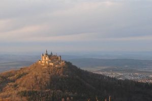 The gorgeous Castle Hohenzollern in Germany from a distance.
