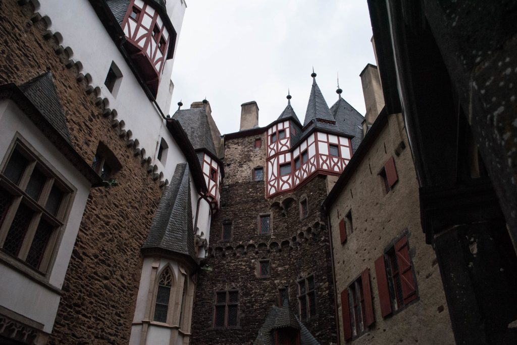 Inner courtyard at Burg Eltz.