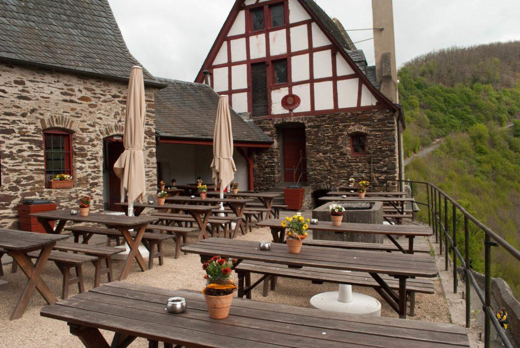 Burg Eltz courtyard cafe