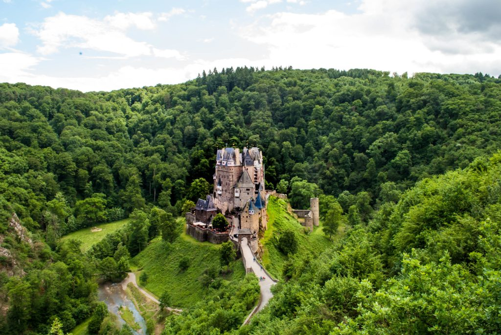 The gorgeous Burg Eltz nestled in its green valley.