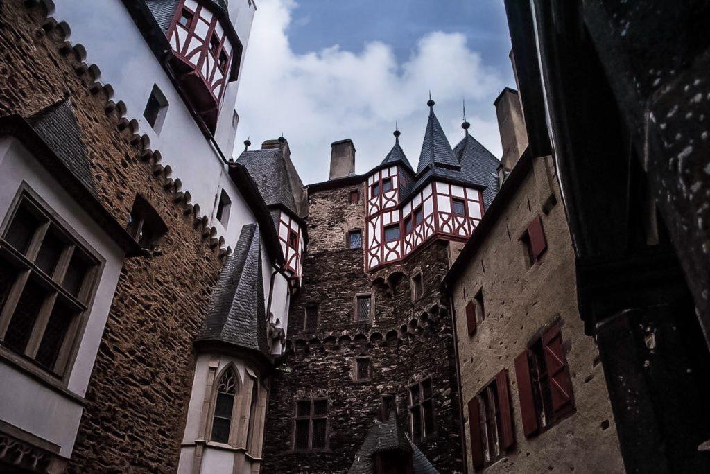 Fairy tale inner courtyard at Burg Eltz.