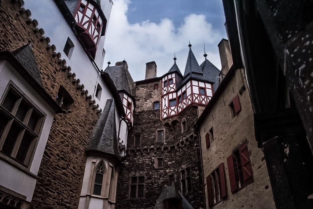 Fairy tale inner courtyard at Burg Eltz.