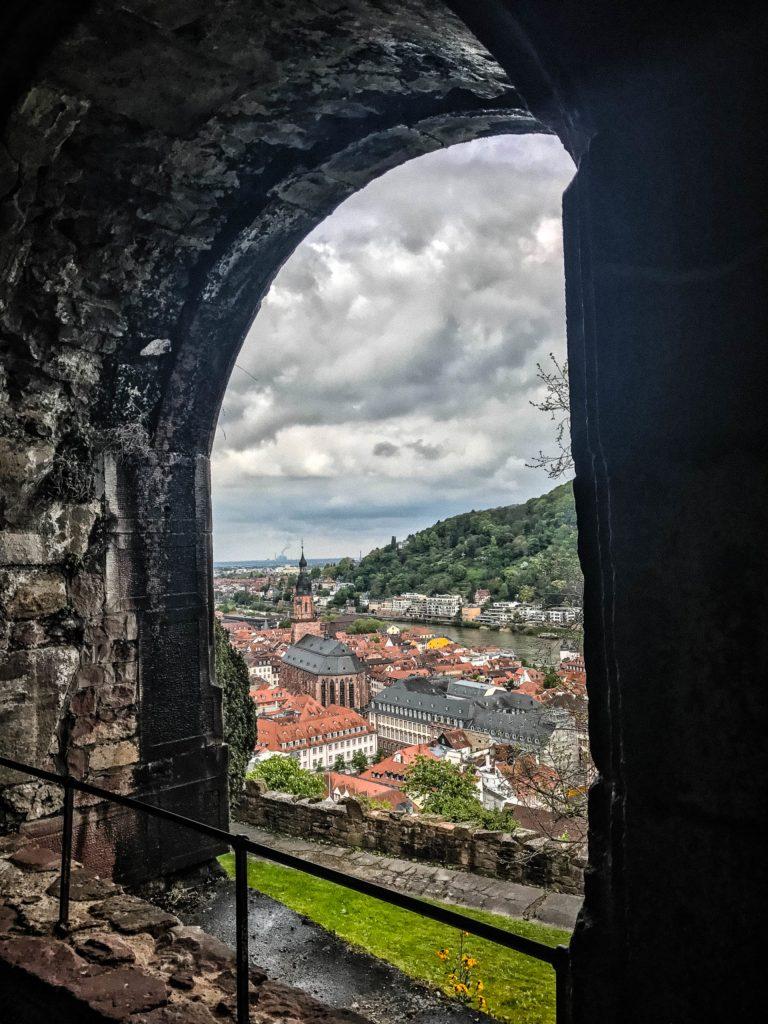 View over the Altstadt from the Heidelberg Castle