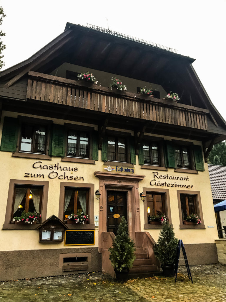 The lovely cozy Gasthaus we stayed in, in the Black Forest