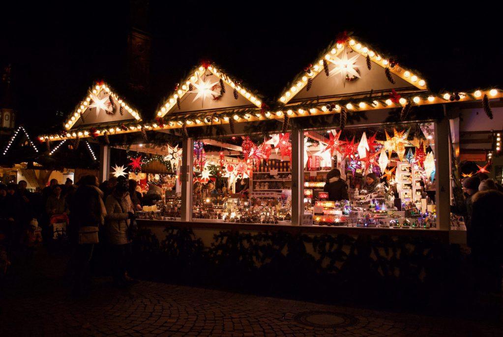 Heidelberg Christmas Market star lanterns