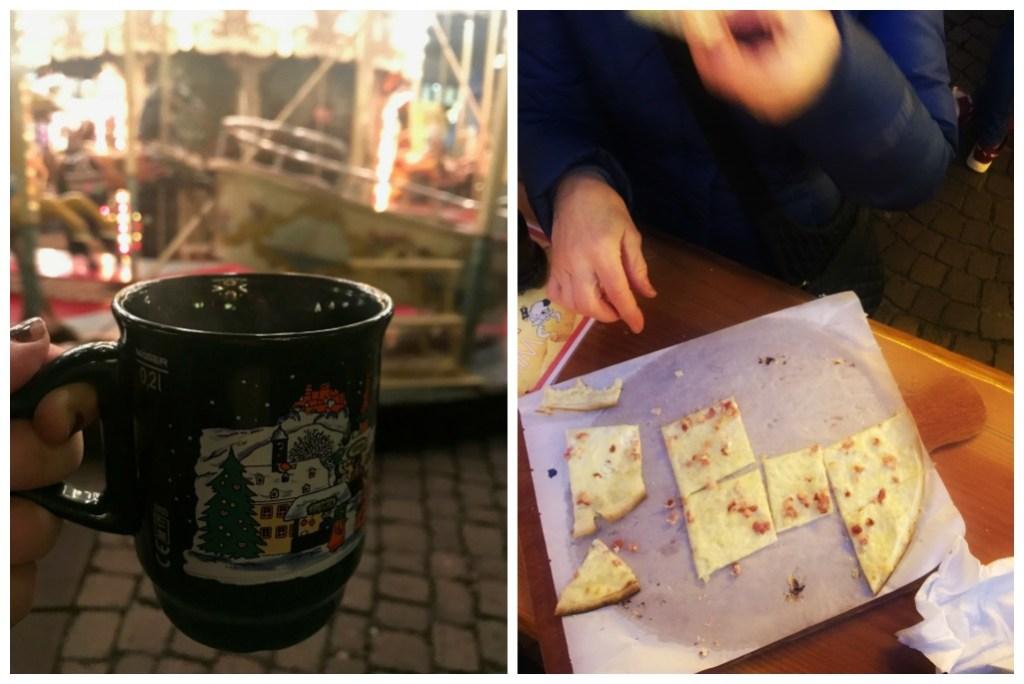 Glühwein mug, and Flammkuchen