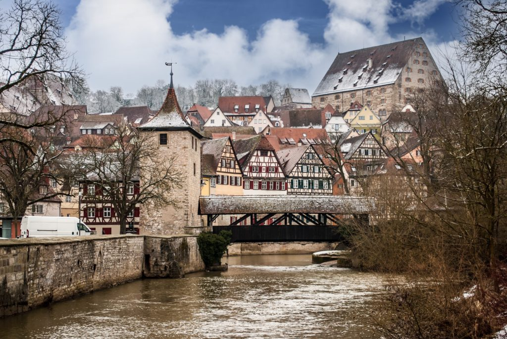 The massively picturesque town of Schwäbisch Hall makes a good day trip from Stuttgart.