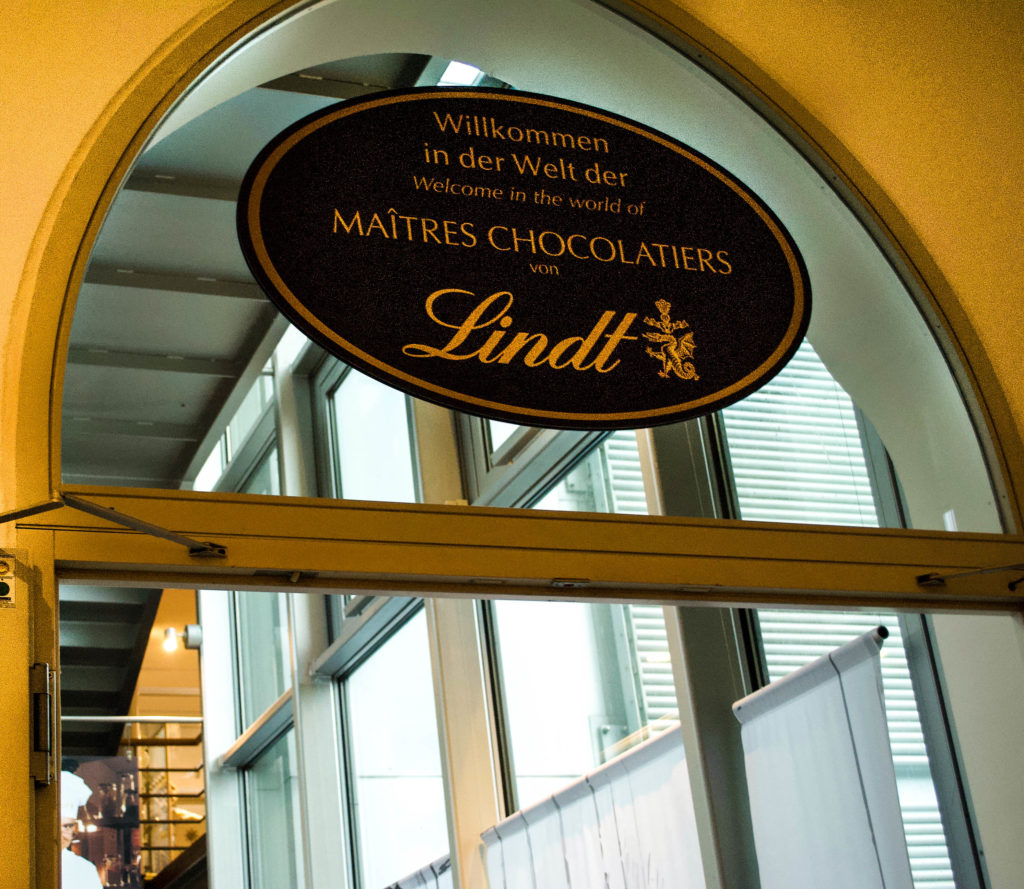 Entering the chocolatey world of Lindt