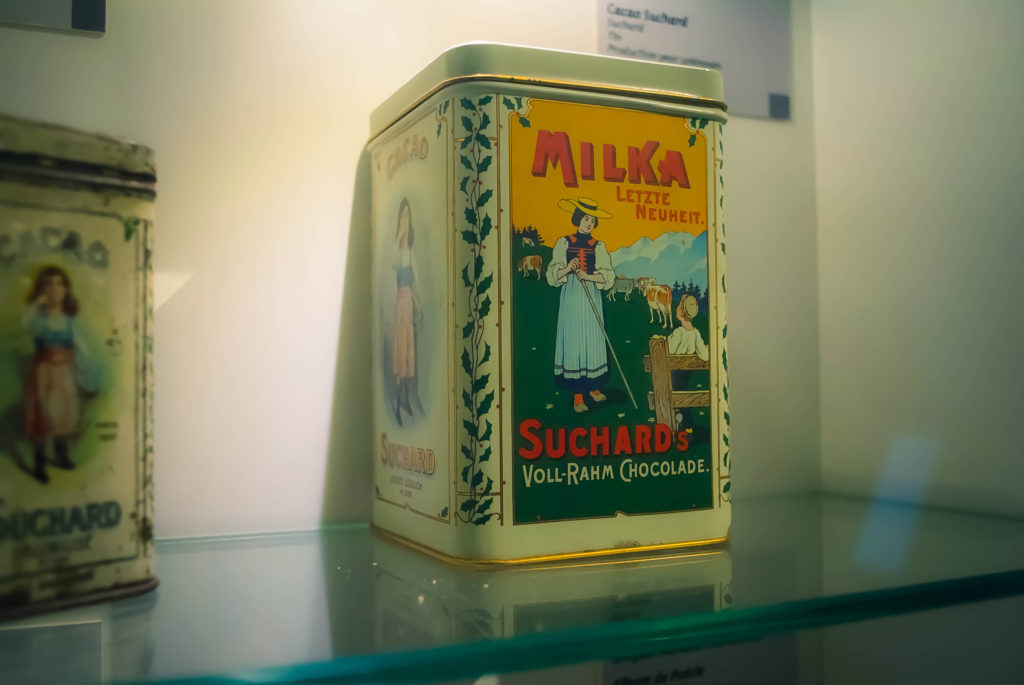 The museum is full of vintage chocolate tins, containers, labels and more.