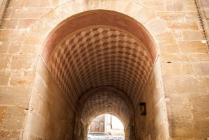 Watch for this archway leading to the central church.