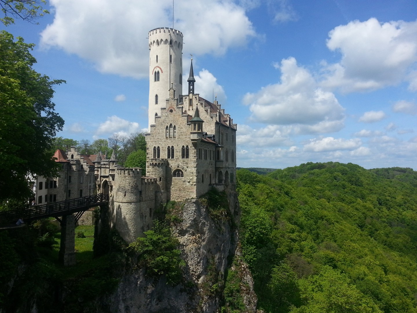 Schloss Lichtenstein looking regal on its cliff