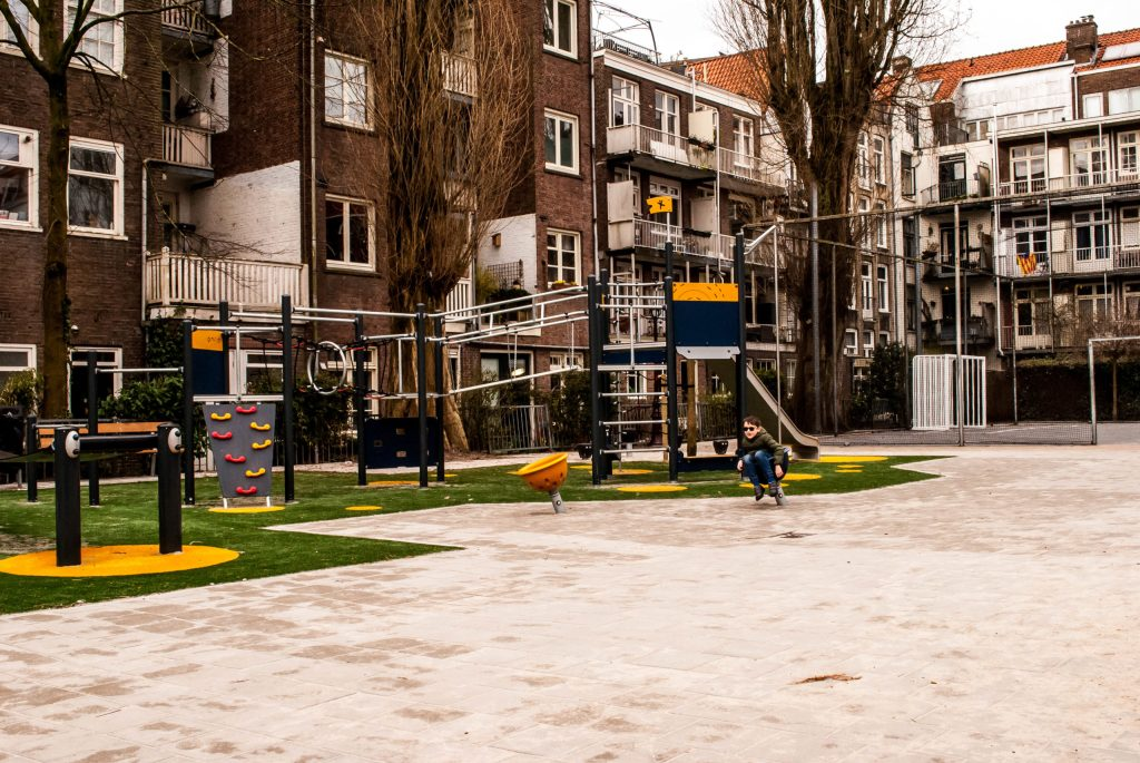 Co-op playground in the centre of Amsterdam