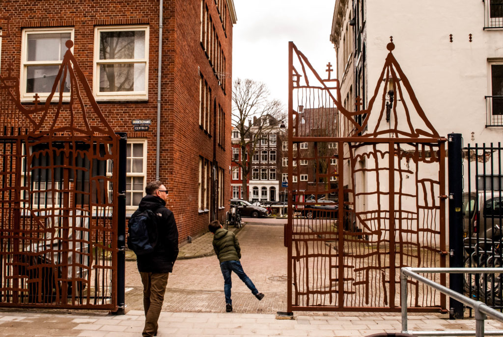 The gates of the co-op playground in Amsterdam.