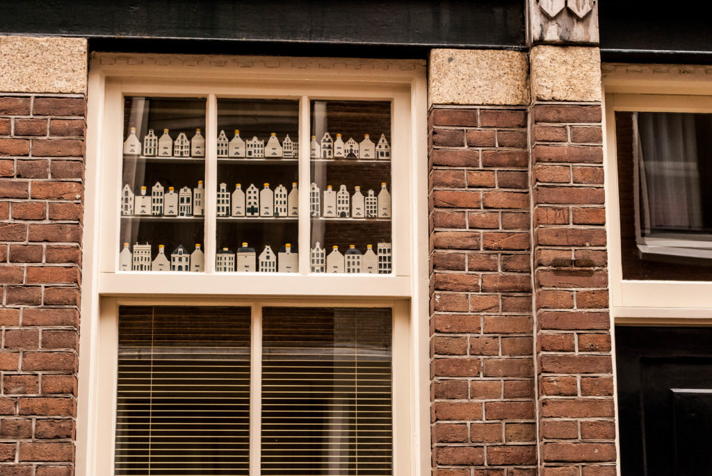 Super cute bottles in an Amsterdam window.