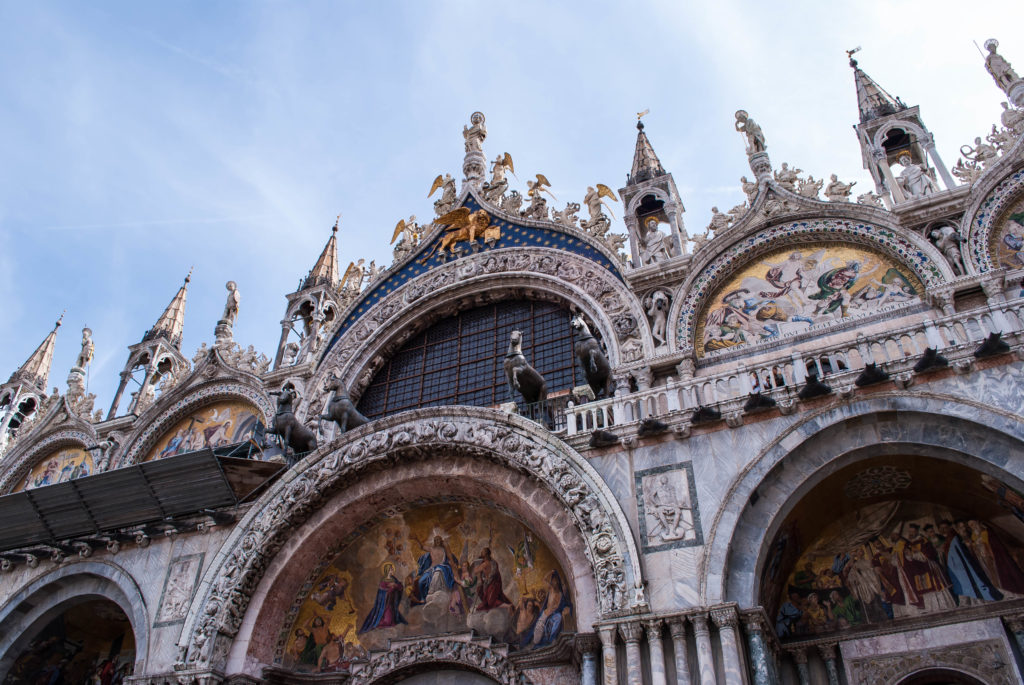 The Doge's Palace is full of details. Those horses up top were stolen from Constantinople.