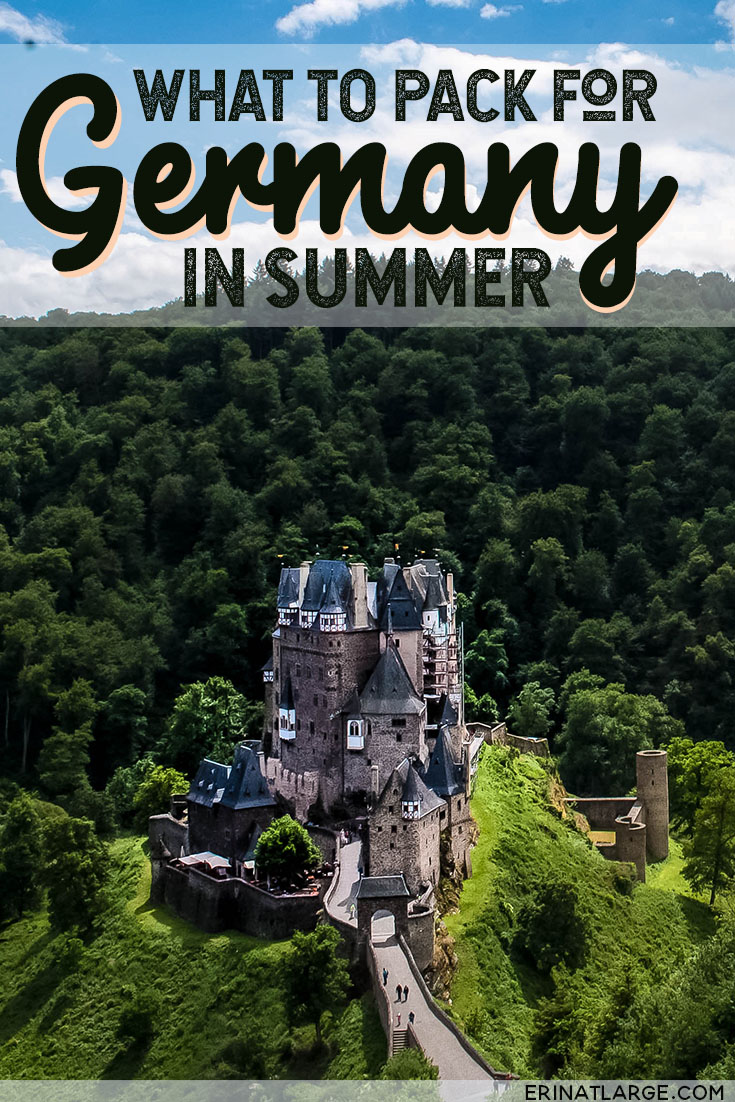 My super-easy summer packing list for one-week traveling in Germany, including the nicest camera bag that doesn't look like a camera bag.