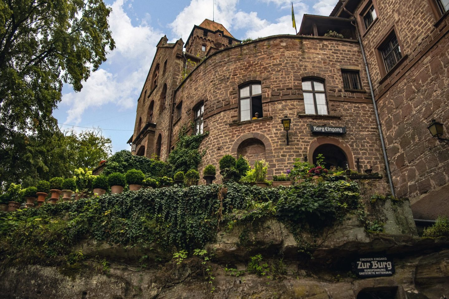 Visiting the haunted castle of Burg Berwartstein