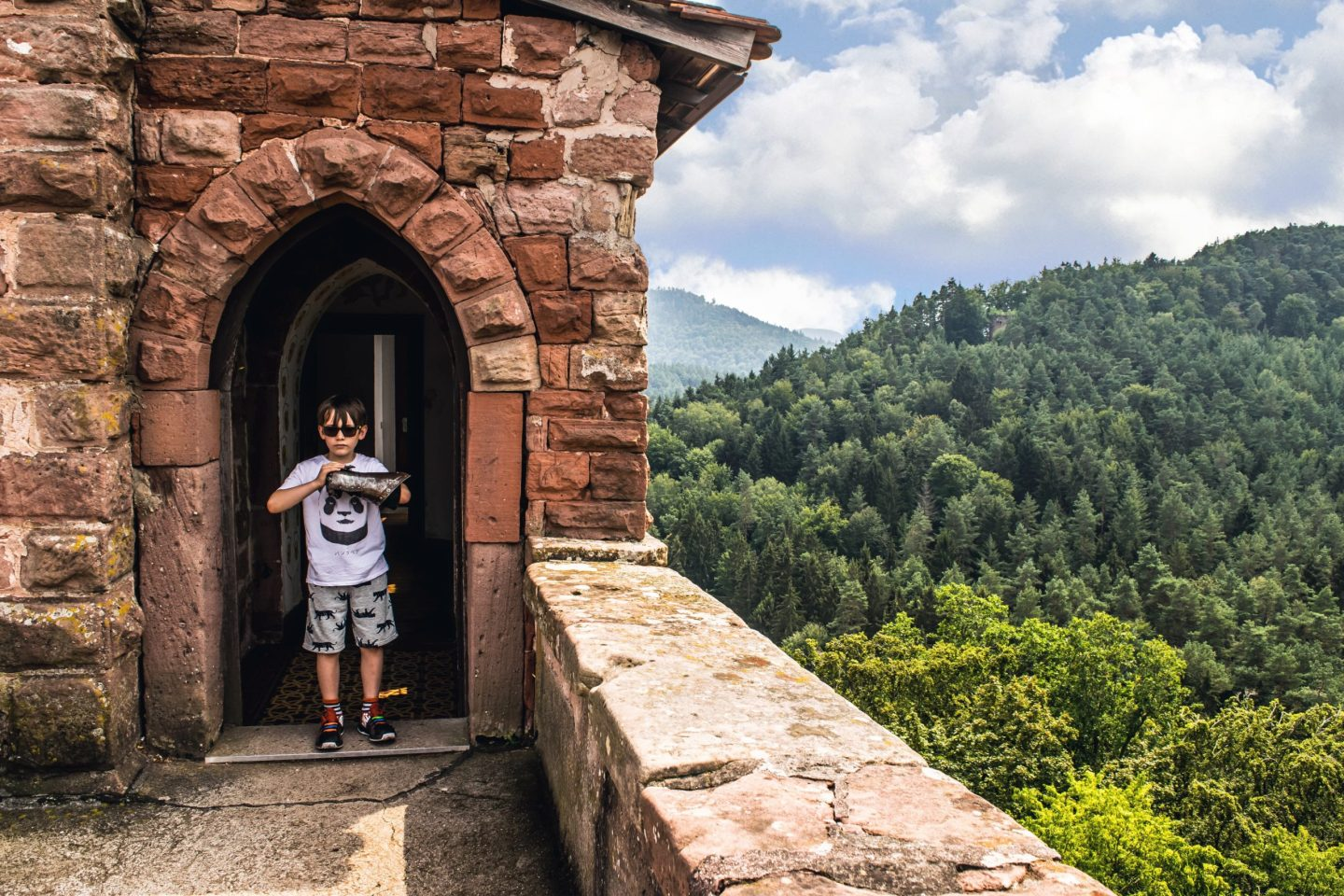 High above the forests of the Palatinate, Burg Berwartstein is a proper haunted castle.