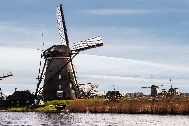 The Windmills of Kinderdijk in the Netherlands
