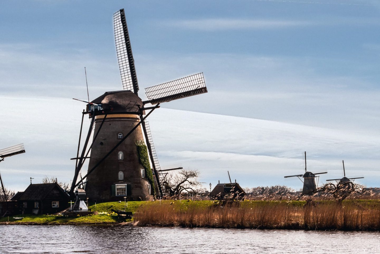 The Windmills of Kinderdijk in the Netherlands