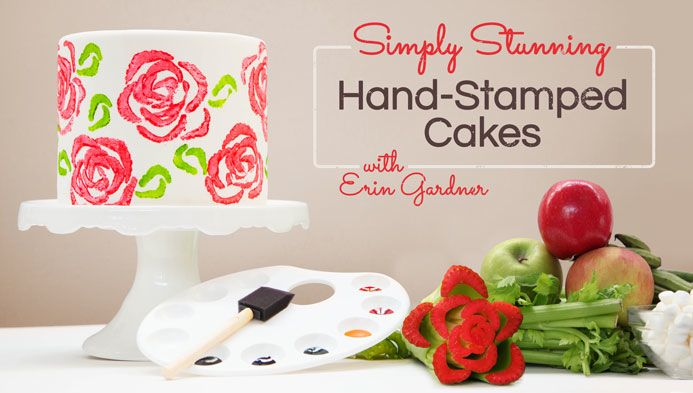 Erin Gardner Hand-Stamped Cakes Craftsy Class 50% Discount Link | ErinBakes.com
