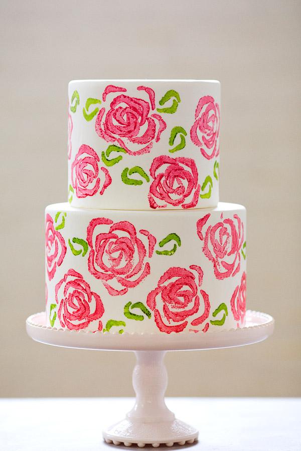 Celery Stamp Rose Cake | Erin Bakes