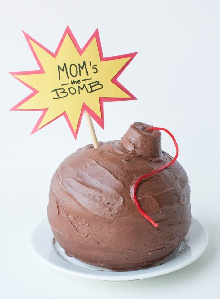 Mom's The Bomb Cake | Erin Gardner | Handmade Charlotte
