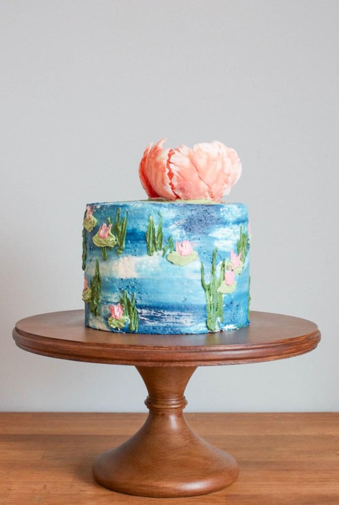 Watercolor Monet Inspired Buttercream Cake | Erin Bakes | Craftsy
